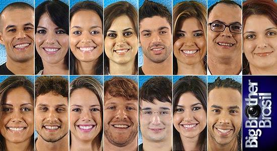 Nomes dos 15 participantes do BBB10